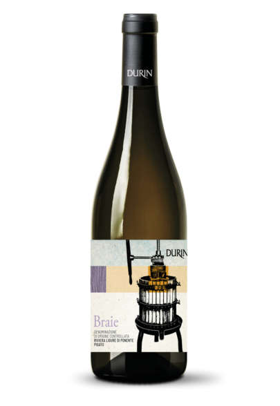 Durin white wine Braie Pigato Liguria