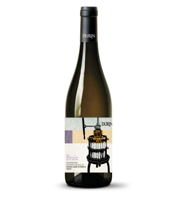 Durin white wine Braie Pigato Liguria